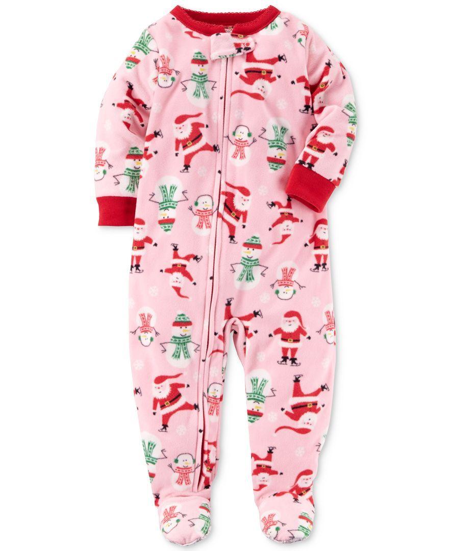 Size:4T Carter/'s Boys 1 Piece Footed Sleeper Zip Up Fleece Pajama