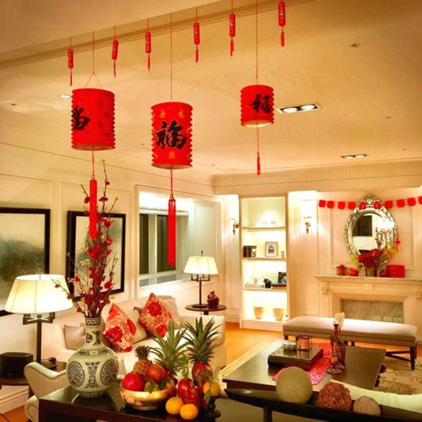 Best Living Room Design And Decoration To Make Chinese New Year Happy Chinese New Year Decorations Chinese Decor New Years Decorations