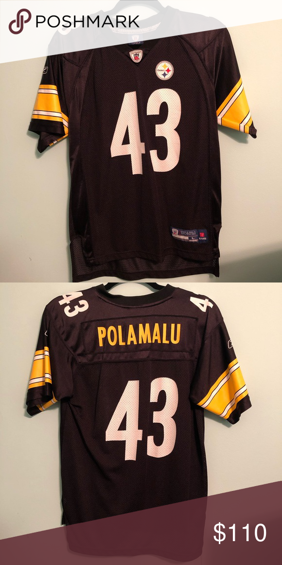 size 40 955e6 51749 Polamalu Steelers #43 Jersey NFL jersey. Only worn twice. It ...