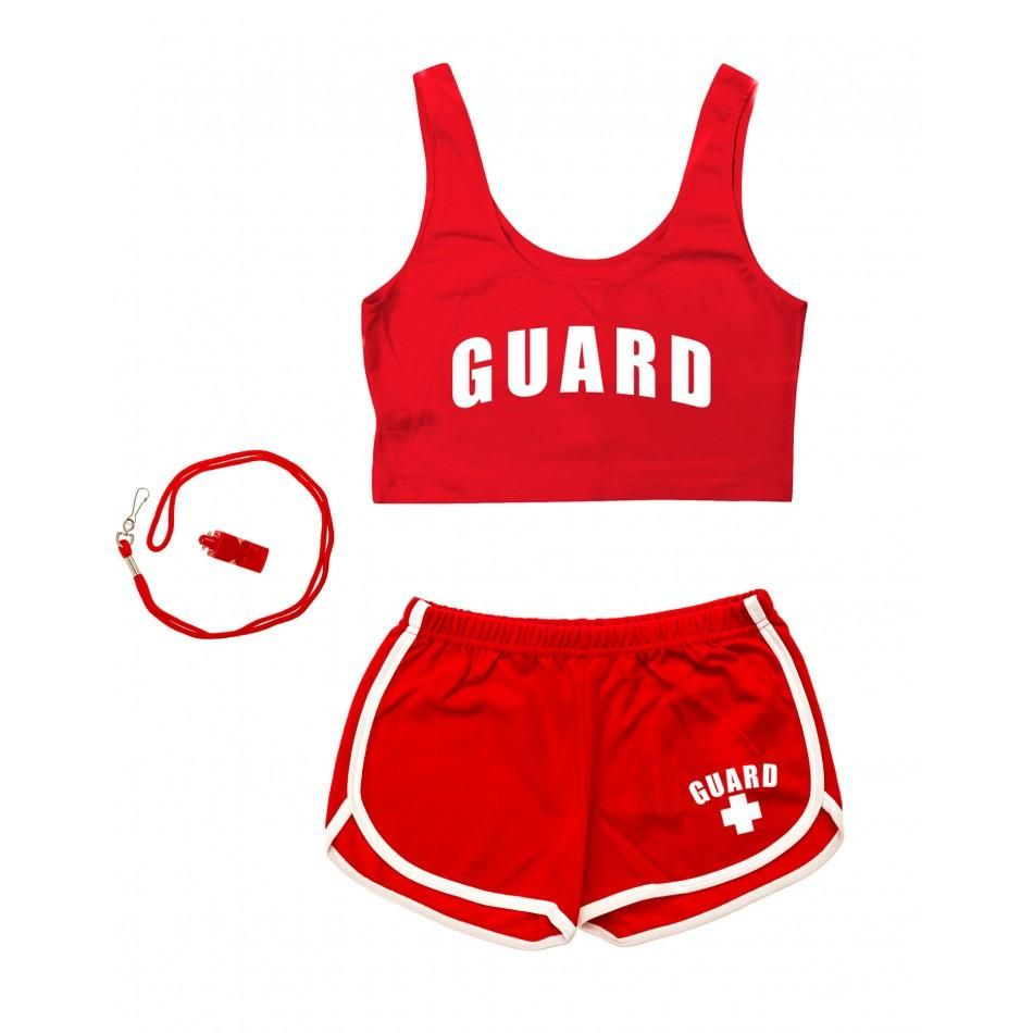 d00a0c49f59 Women s Halloween Lifeguard Costumes II - Red