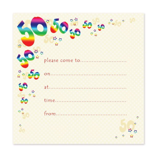 Blank 50th Birthday Party Invitations Templates Party Invite Template 50th Birthday Party Invitations Free Printable Birthday Invitations