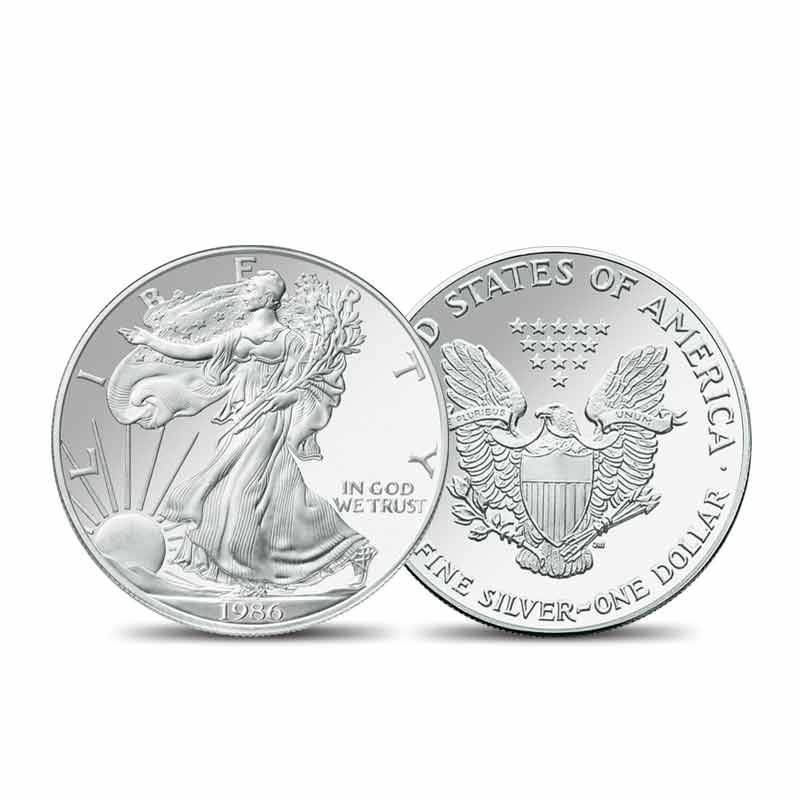 The Complete 20th Century American Silver Eagle Collection In 2021 Silver Eagle Coins Silver Dollar Value Silver Coins
