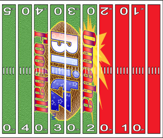 Omaha Blitz Football Ages 8+, 2 to 4 plyr, Sports Card