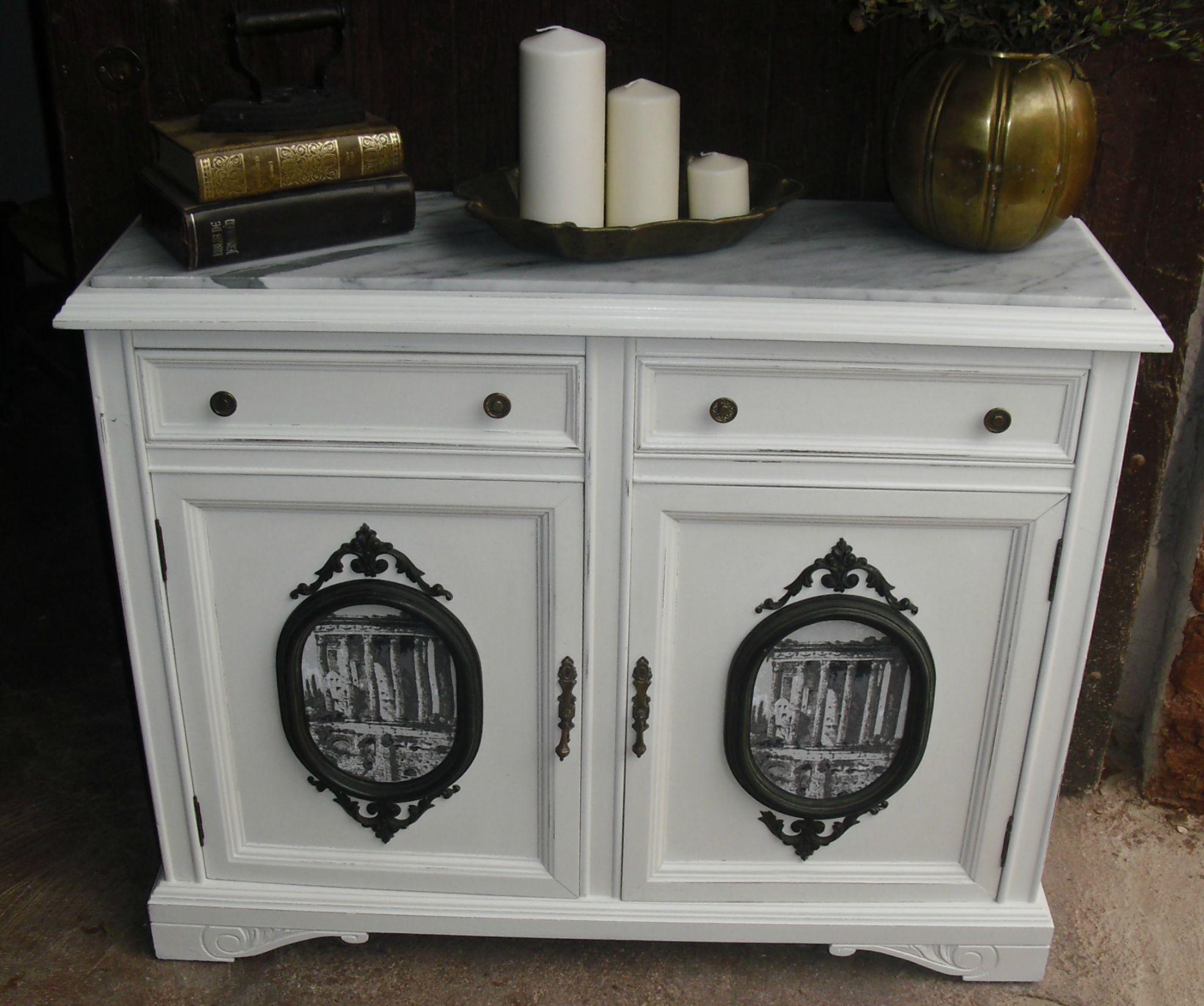 Taquill n de madera reci n restaurado tipo vintage sobre - Tipos de marmol ...