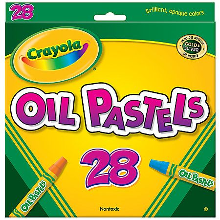 Crayola® Oil Pastels, 28-Colors $6 at Office Depot - use to  decorate shells you find on the beach (even pieces)