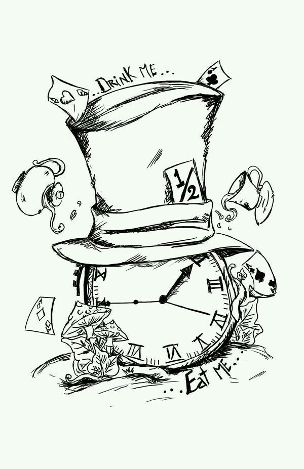 Reloj8 | dibujo | Pinterest | Tattoo, Alice and Drawings