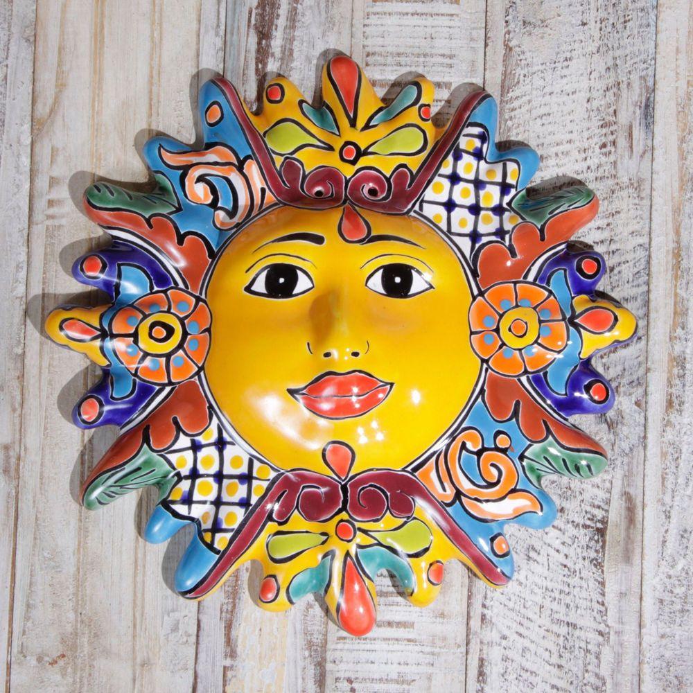 Talavera Wall Sun Siete | Mexican folk art, Folk art and Walls