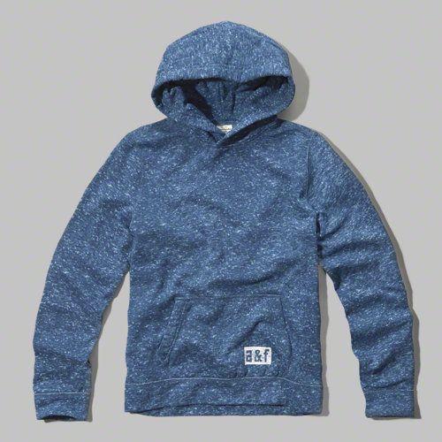 textured popover hoodie