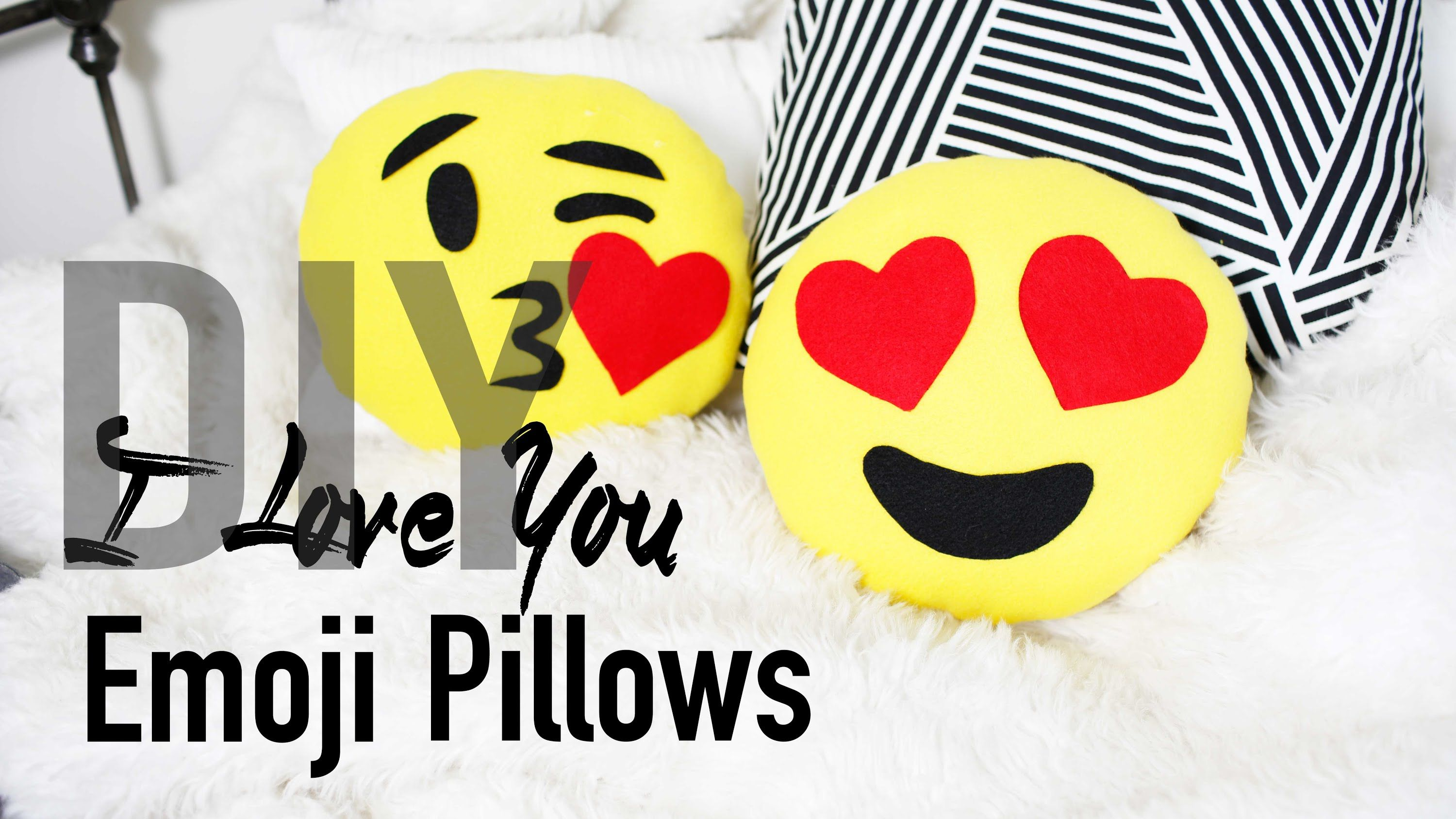 Diy cute u easy heart emoji pillows anneorshine craftsdiys