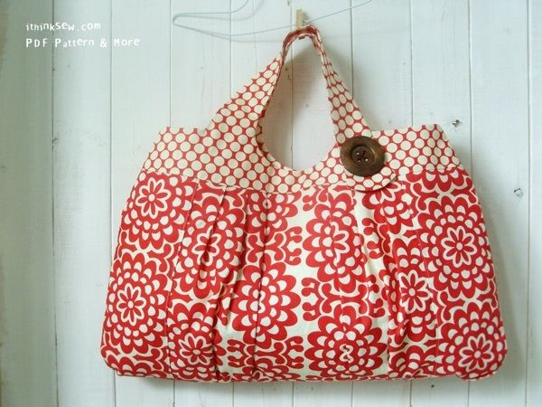 Amy Butler Knitting Bag Pattern : The Melanie Bag by Ithinksew. I made this to use as a ...