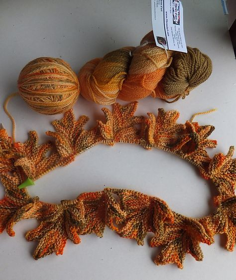 Photo of Knitted shawl Autumn Lace