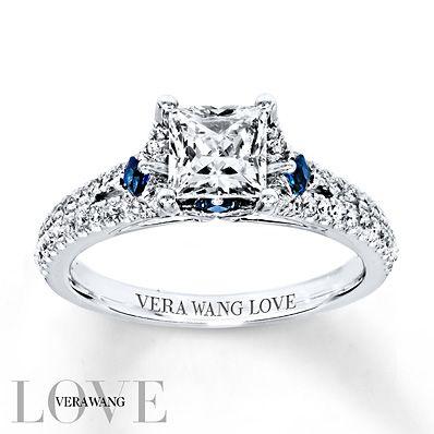 Vera Wang Love Engagement Ring 1 Ct Tw Diamonds 14k White Gold This Morganite Engagement Ring Rose Gold Diamond Engagement Ring Set Vera Wang Engagement Rings
