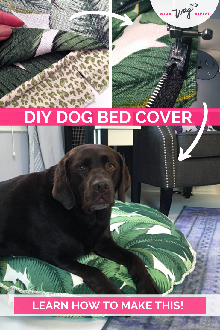 How to Make a Stylish Dog Bed Cover Diy dog bed, Dog
