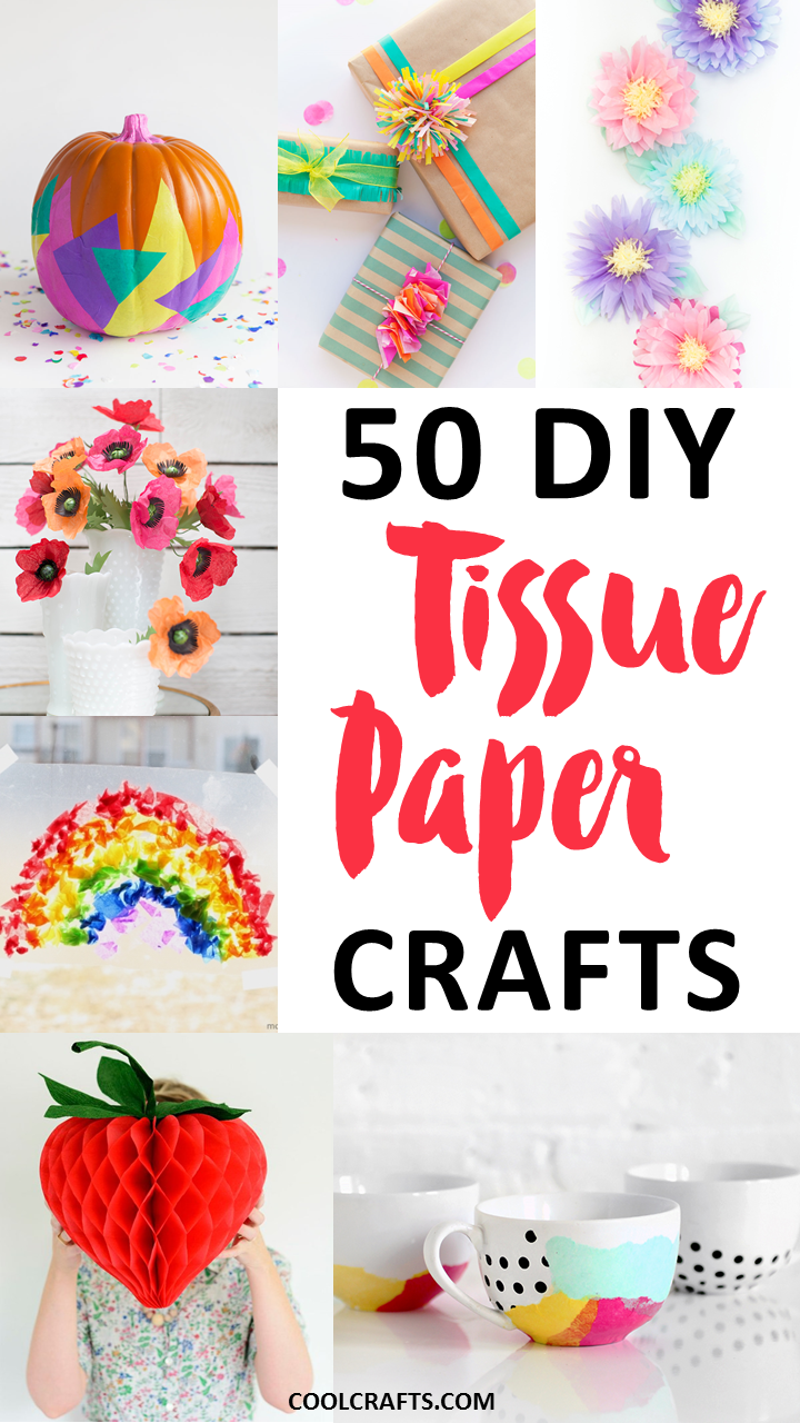 Tissue paper crafts 50 diy ideas you can make with the for Cool diy crafts to do at home