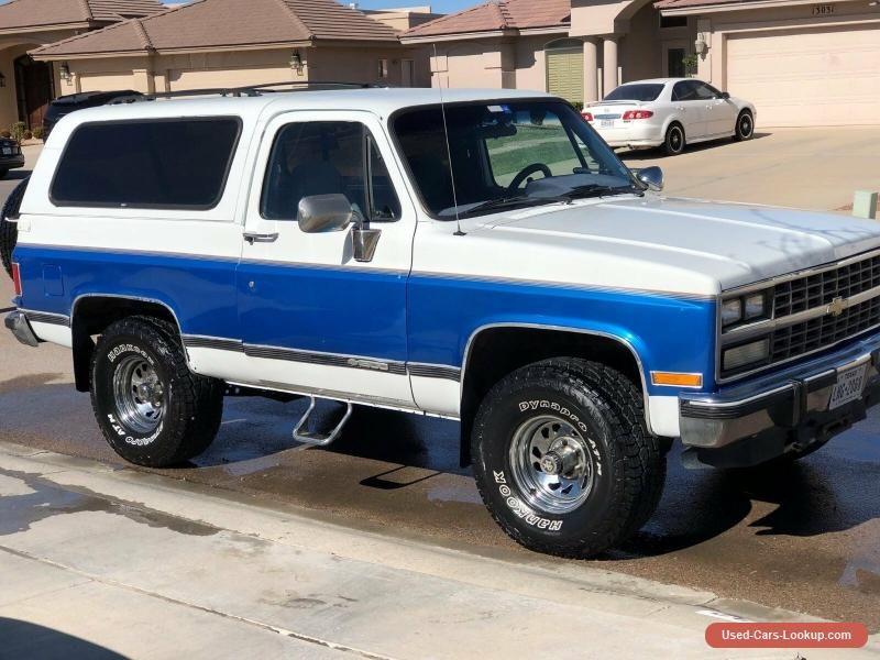 1991 Chevrolet Blazer K5 Chevrolet Blazer Forsale Canada