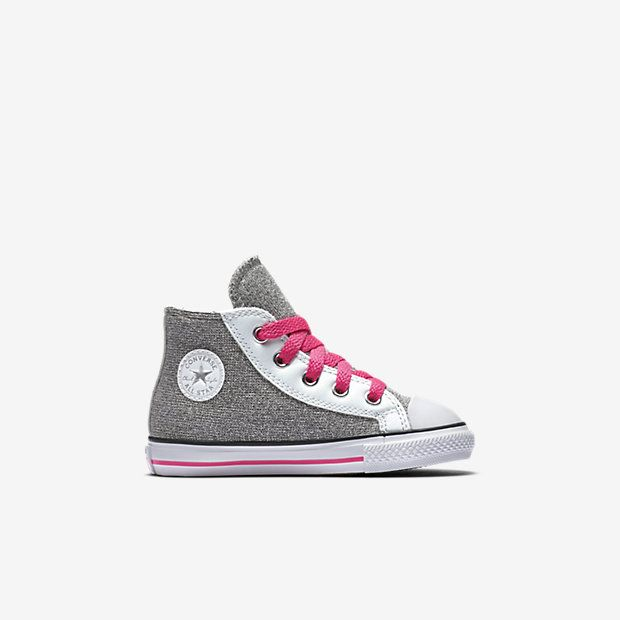 Converse Chuck Taylor All Star Glitter Side Zip High Top Infant/Toddler Shoe
