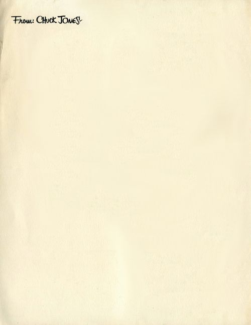 Personal letterhead of the late-Chuck Jones; a true legend who - personal letterhead