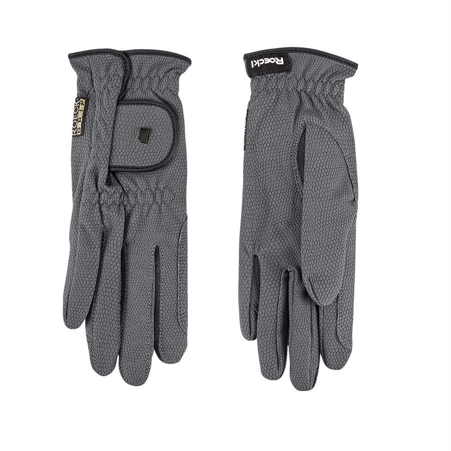 Roeckl Chester Riding Gloves Gray For Schooling Riding Outfit Grip Gloves Equestrian Outfits