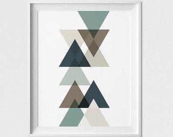 Minimal art print geometric print poster wall decor abstract art poster wall decor - Geometrische wandbilder ...