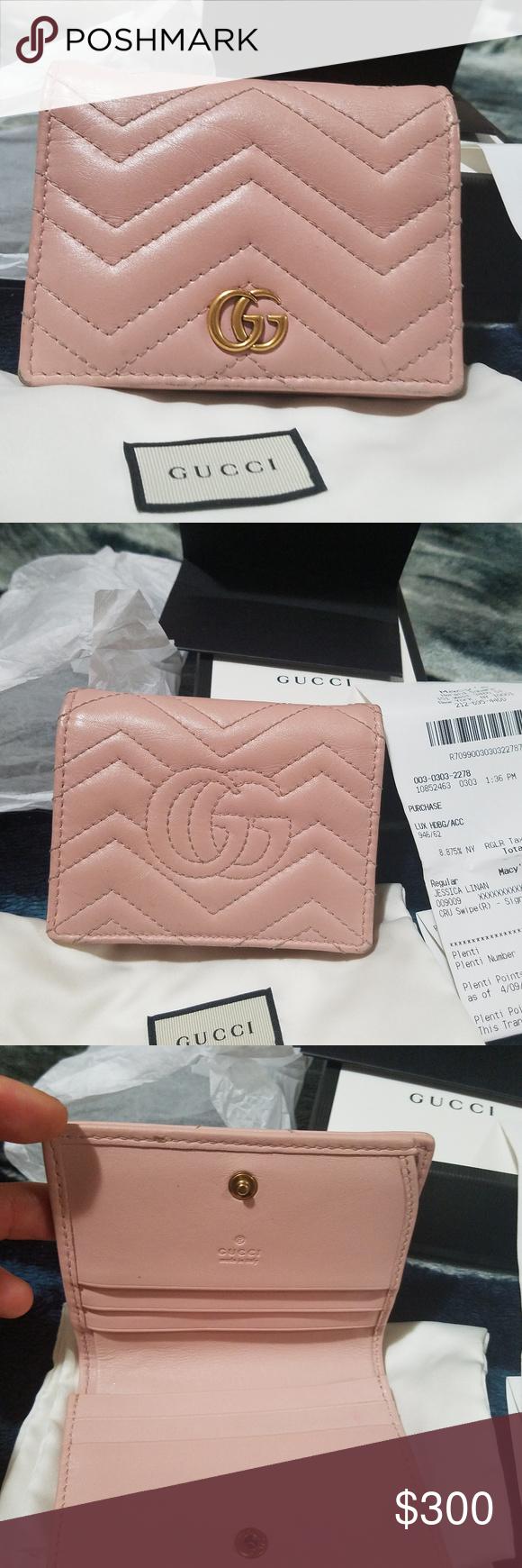 big sale 6d846 d95b7 GG marmont card holder wallet light pink versatile small cardholder ...