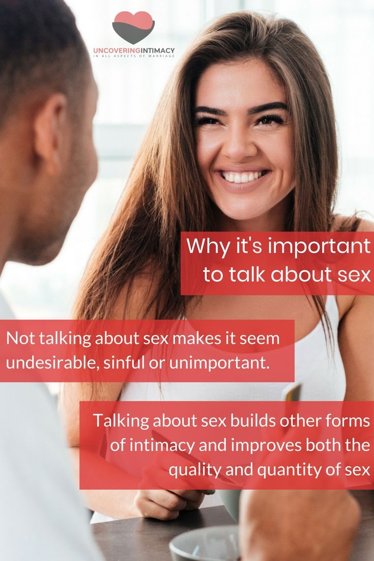Uncomfortable about sex