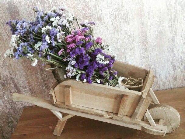 Carretilla de flores secas Casamento Pinterest Flower - flores secas