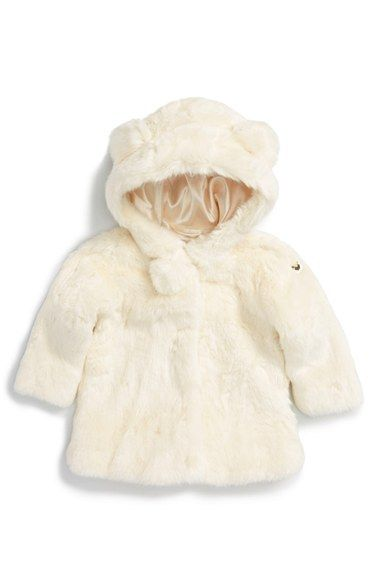 91a064086 Armani Junior  Bunny  Hooded Faux Fur Jacket (Baby Girls) available ...