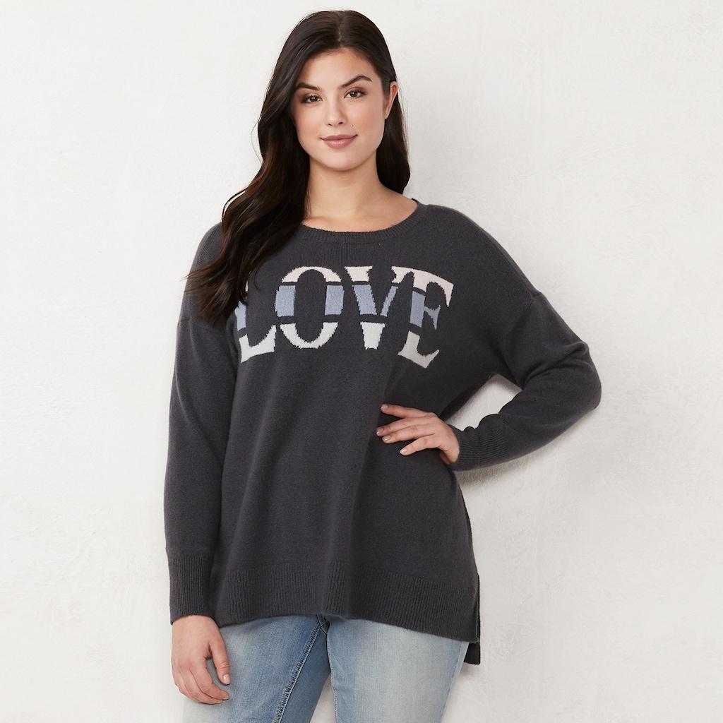 d31c4d77910e1 Plus Size LC Lauren Conrad Oversized Sweater