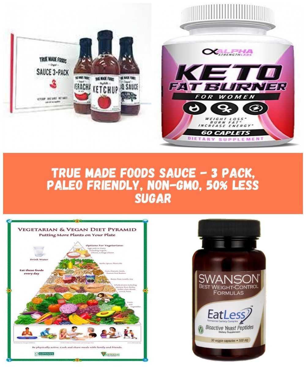 True Made Foods Sauce - 3 Pack, Paleo Friendly, Non-GMO, 50% Less Sugar $19.95 b...,  #ballerinadietplan #foods #Friendly #NonGMO #Pack #Paleo #Sauce #Sugar #true