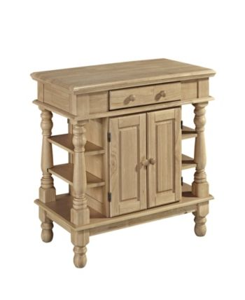 Home Styles Americana Natural Kitchen Island Brown