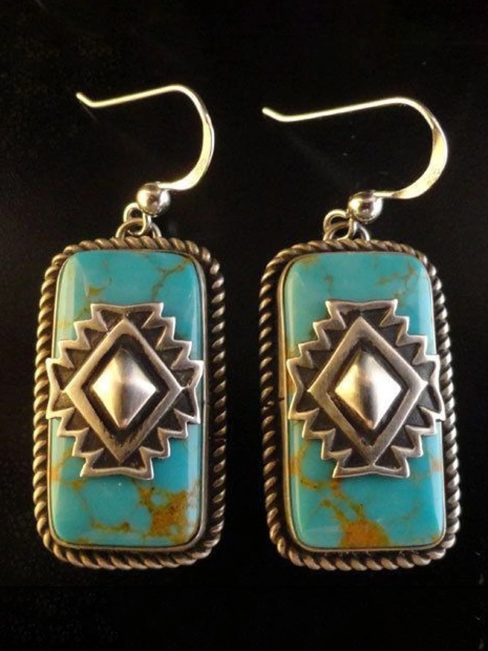 Green Bbc Mooresup Vintage silver jewelry, Turquoise