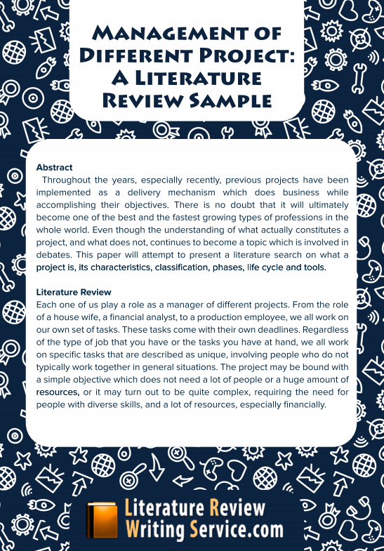project literature review format