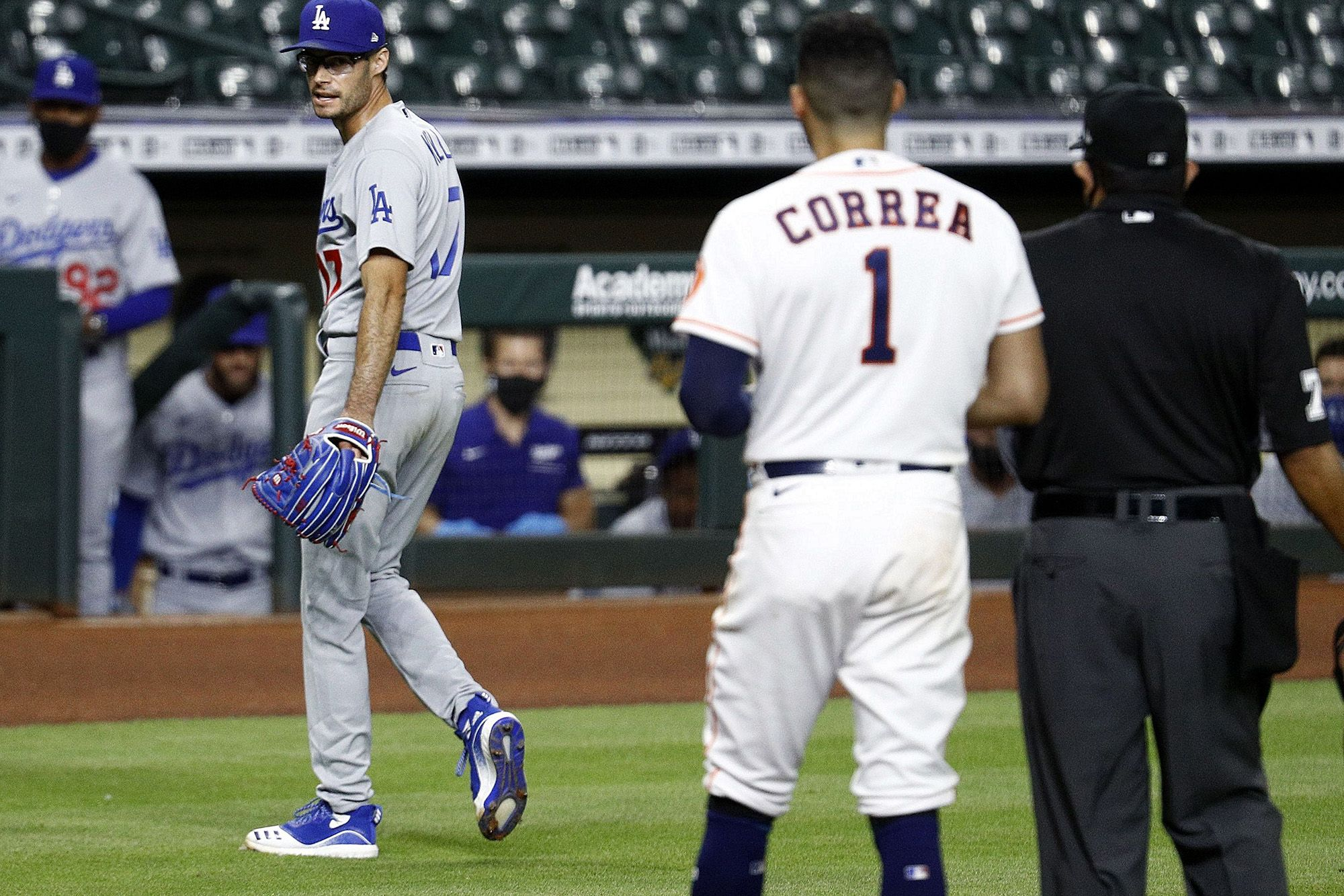 Mlb Suspended Los Angeles Dodgers Reliever Joe Kelly Eight Games After He Helped Ignite A Bench Clearing Incident Tuesday By Thro In 2020 Dodgers Nation Dodgers Astros