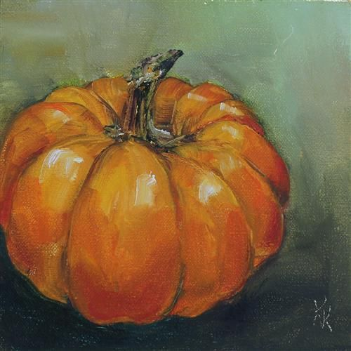 Pumpkin by Kristine Kainer  Simple  Lovely  | Watercolor
