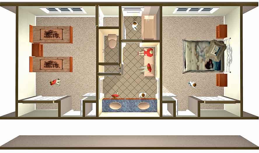Design A Jack And Jill Bathroom Floor Plans Pinterest