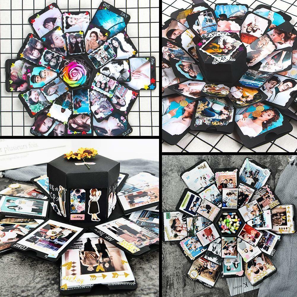 Surprise Explosion Box Creative Birthday Gifts Photo Album Memory Scrapbook RT
