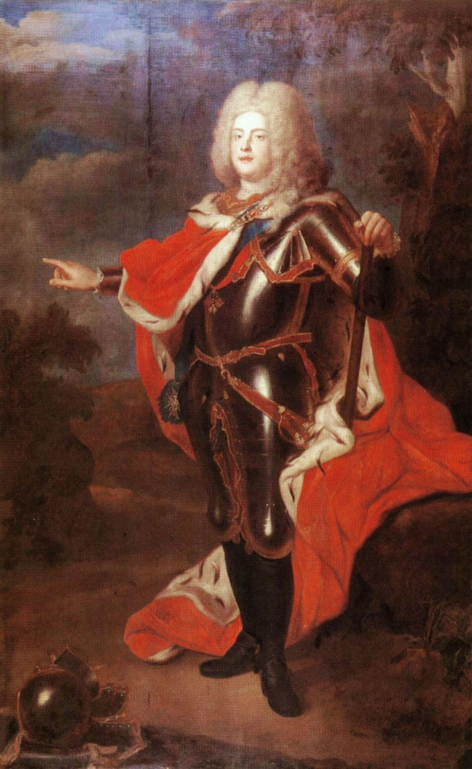 1721 August III of Saxony by Louis de Silvestre (With