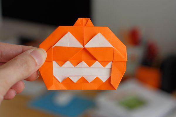 Origami Jack O Lantern How About Orange Boo Pinterest