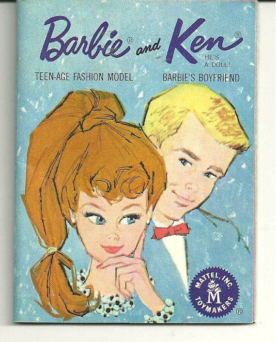 VINTAGE REPRO BLUE BARBIE KEN FASHION BOOKLET BOOK MINI CLOTHES CATALOGUE