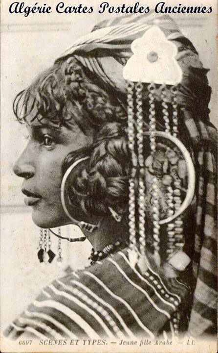 Young Arab Girl. Algeria | Scanned old postcard.