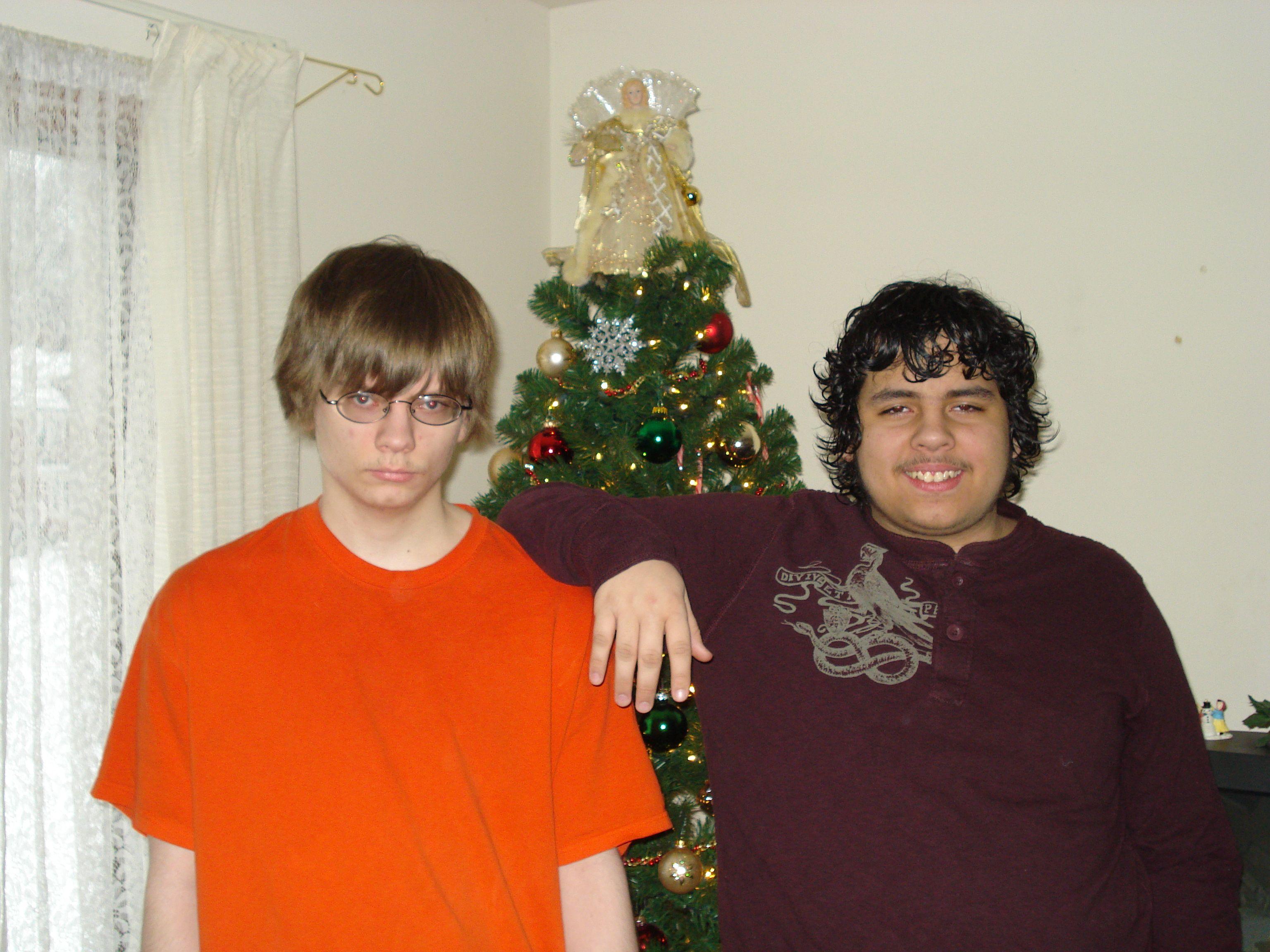 Nick and Marcus...Christmas 2008