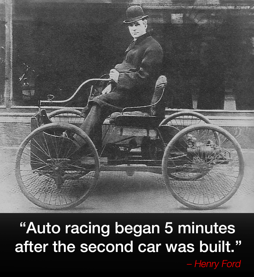 Auto racing began 5 minutes after the second car was built.  u2013 Henry  sc 1 st  Pinterest & Auto racing began 5 minutes after the second car was built ... markmcfarlin.com