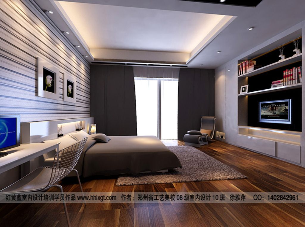 Creative Ultra Contemporary Student Bedroom Linear Modern Bedroom Contemporary Bedroom Small Bedroom Decor