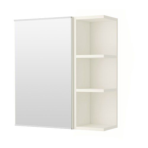 LILLÅNGEN Spiegelschrank 1 Tür/1 Abschlregal, weiß | Spiegelschrank ...
