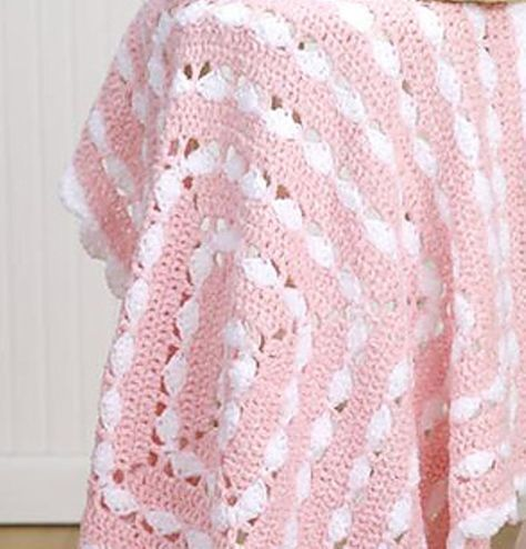 Quick, Easy, And Very Pretty Free Crochet Baby Blanket Pattern