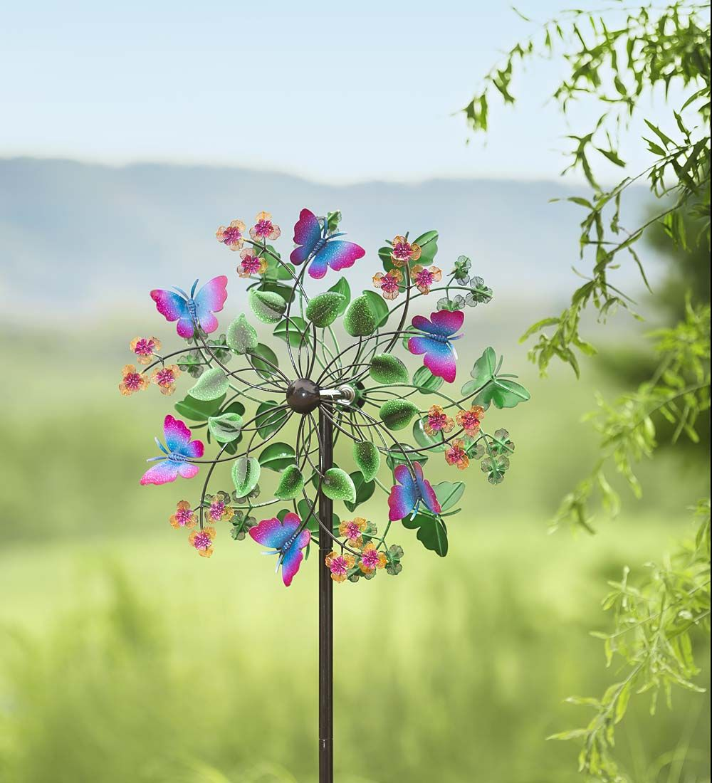 Butterfly garden wind spinner bring the beauty of for Outdoor wind spinners