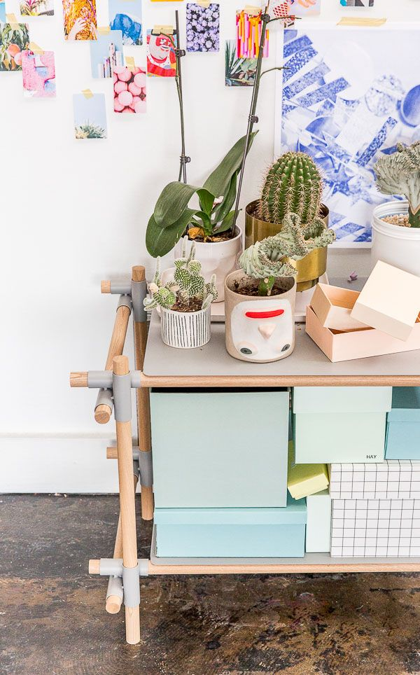 Potted succulents | Take a tour of the creative (and colorful) studio of Paper & Stitch