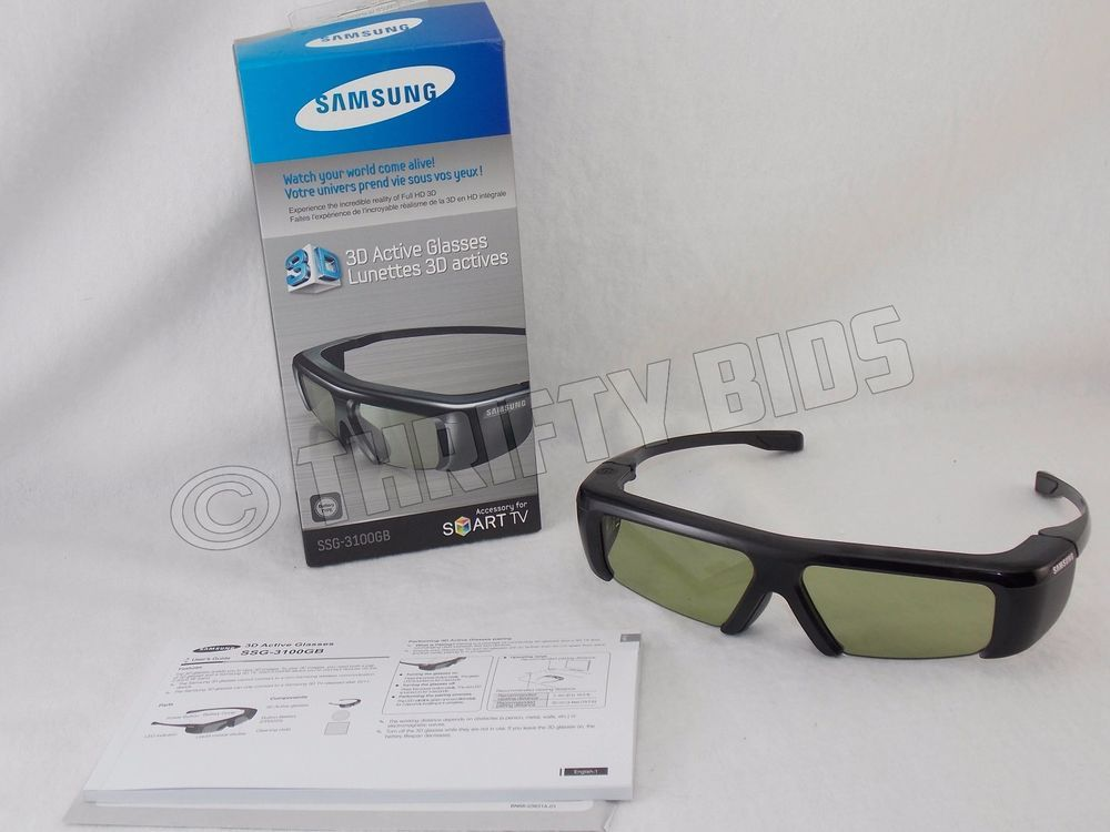 384f23e6c558 Samsung SSG-3100GB Active 3D Glasses for 2011 3D Televisions Fully Tested # Samsung
