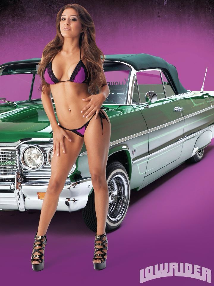 Hot lowrider girls on bikes from