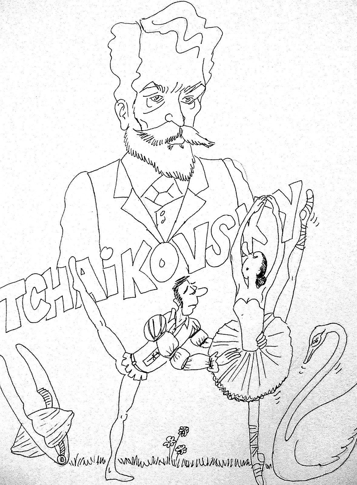 Tchaikovsky Coloring Page